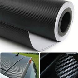 Kreativ 3D kolfiber bil film vattentät bil klistermärken Vinyl