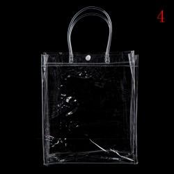 Mode klar tote väska genomskinlig handväska axelväska stadi 28*24*9CM