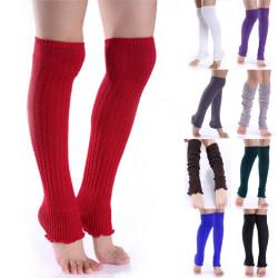 Mode Kvinnor Flicka Vinter Långa Benvärmare Sticka Virkad Legging
