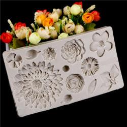 Blomma silikonform fondant form kaka dekorationsverktyg chocola