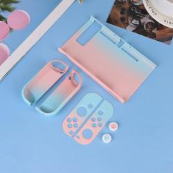 För Nitendo Switch NS-fodral PC Skyddande yttre Coque Shel Blue