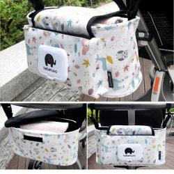 Hängande pås Barnvagn Tillbehör Nylonflaskarrangör Baby Carr White dots