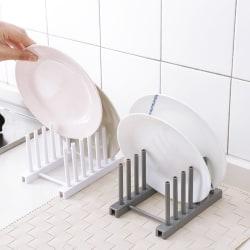 Högkvalitativ diskbänkskålsplåt Rack Pot Lock Lock Gray