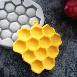 Honeycomb silikon fondant mögel tårta dekorera verktyg choklad Gray