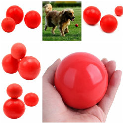 Oförstörbar massiv gummiboll Hundkatt Hundträning Tuggspel L7cm