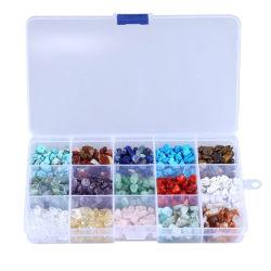 Oregelbundna stenpärlor Naturliga ädelstenpärlor Kit DIY smycken Ne 15