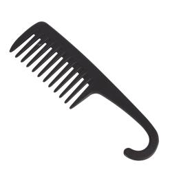 Stor krokhandtag med bred tandkam minskar håravfallskam Stylin Black