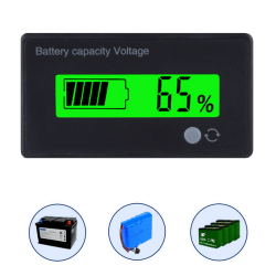 LCD-skärmindikator Batterikapacitet Voltage Monitor Tester M