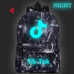 Luminous Tik Tok Starry Sky Ryggsäck Studentryggsäck Laptop Ba 4