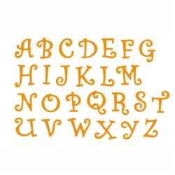 Magic Capital Letters Metal Cutting Dies För DIY Scrapbooking A