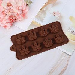 Maple Leaf Chocolate Mold Bar Block Ice Silicone Cake Candy Sug onesize