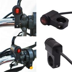 Motorcykelstyrning Dubbelbrytare Elektrisk aluminiumlegering Wate Single Switch with light