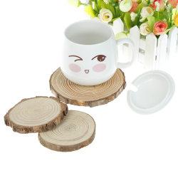 Naturlig träskiva matta underläggsunderlägg te kaffe mugg drycker Roun