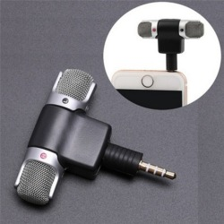 Ny Universal Mini Stereomikrofon Mikrofon Ljud för PC Laptop Nr Silver One Size