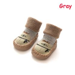 Nyfödda babystrumpor Barngolv Varma skor Anti Slip Soft Sole P
