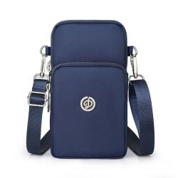 Nyaste mobiltelefonväska Dam Cross-body Bag Mini bag Handväska Dark blue