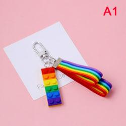 nyckelringar bilnycklar nyckelringar väska dekor regnbågsnöre frukt frukt s A1
