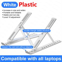 Bärbar bärbar stativ Stödbas Anteckningsbokstativ för Macbook P WHITE