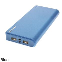Power Bank Shell Case 2A 6x18650 Laddare DIY Box Kit Batteri Bo Blue