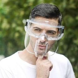 Skyddsglasögon Ansiktsskärm Helt sluten okular Anti-dimma onesize