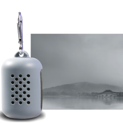 Snabbtorkande kylning Mikrofiberhandduk Gym Instant Relief Sports Gray