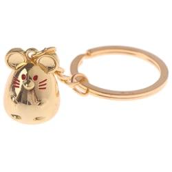 råtta mus nyckelring prydnad djur bil nyckelväska hängande nyckelring ne Gold
