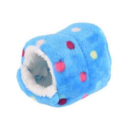 små djur säng grotta varm söt bo för hamster marsvin squ Blue 14cmx14cm