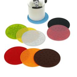 snöflinga silikon färgstark matte kopp underlägg värmeisolering white