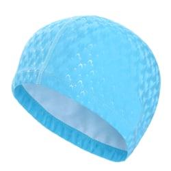 Badmössa Vuxen hatt Öronskydd Polyuretan Halkskydd Light blue