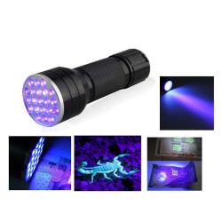 UV Ultra Violet 21 LED-ficklampa Mini Blacklight Aluminium Torc