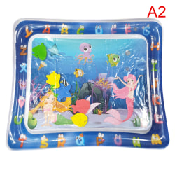 Water Playmat Uppblåsbar Play Mat Tummy Time Spädbarn Baby Toddl Square fish