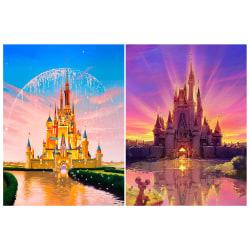2st, Castle Diamond målningssatser, hemväggsdekor, 30x40 cm flerfärgad