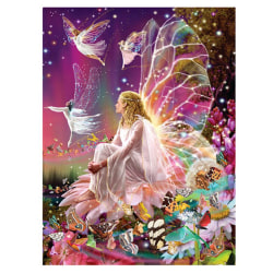 Fairy - Diamantmålningssatser, hemväggsdekor, 40x30 cm flerfärgad
