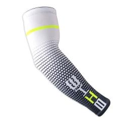 1 par cykling solskydd armskydd armbågs stöd ärmar Vit M