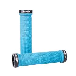 1 par MTB-cykelhandtag Cykling Anti-Slip Lock-On Ends Blå