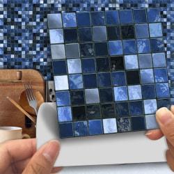 25st Kök Kakel Klistermärken Badrum Mosaik Självhäftande H 15x15cm