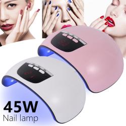 54W UV-nagellackstorklampa LED UV-härdningslampa för manikyr Vit