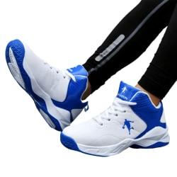 Barn pojkar ungdom high-top mode sneakers basketskor Blå 36