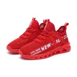 Barns löparskor sport promenader skor mode skor Röd 26