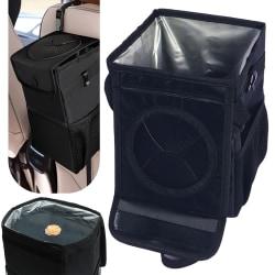Car Sun Visor Organizer Pouch Bag Storage Holder Svart L