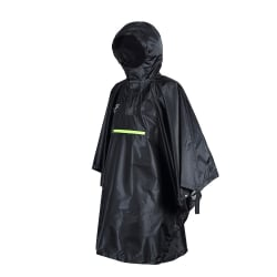 Camping Emergency Vattentät Rain Poncho Raincoat Lätt Black