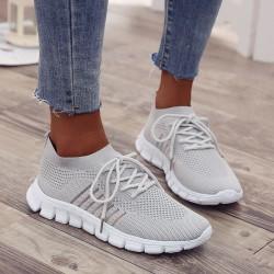 Kvinnors sport löparskor utomhus gå skor fitness skor Grå 38