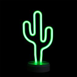 LED-nattlampa Skrivbord bordsstång Bar lampa hem inredning Green Cactus