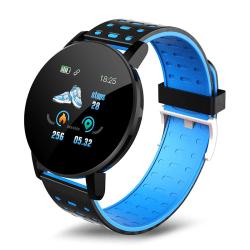 Smart Watch IP67 vattentätt armband Kondition Tracker Blå