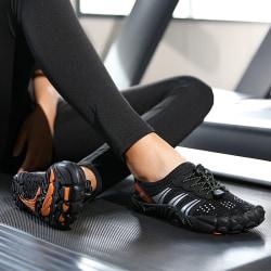 Unisex lätta barfota vattentäta skor snabbtorkande skor Svart 40