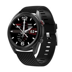 Unisex Smart klocka EKG Kondition Tracker Armband BT Ring IP67 Svart Silikon