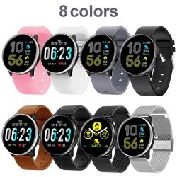 Unisex Smart Watch Vattentät Sova Övervaka 1,3 tum 180mAh Svart Stål