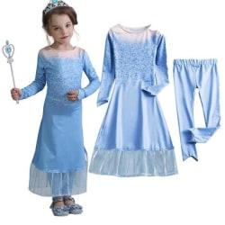 Frost prinsessklänning 2 delad Blue 110