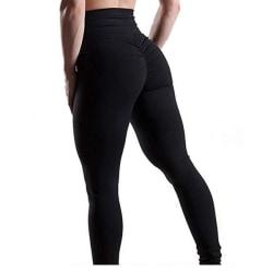 Svarta Leggings Med Scrunch Butt Black S
