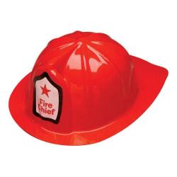 Brandman hjälm maskeradkläder Halloween Röd one size